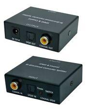 Optisch⟺Koaxial Audio Konverter Bi-Direktional + 2xKabel Koaxial/Toslink/0.7m
