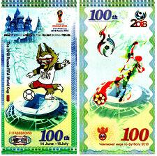 Billet Coupe du Monde 2018 Russie Fifa SPécimen Football Mascotte