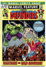 MARVEL FEATURE #2  - featuring The DEFENDERS - 1st PRINT! - 7.5 VF-