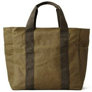 Filson Grab N Go Large Tote - NEW - 111070391 Dark Tan Brown Bag Carry All Waxed