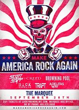 "Scott Stapp Of Creed ""Make America Rock Again"" 2017 Phoenix Concert Tour Poster"