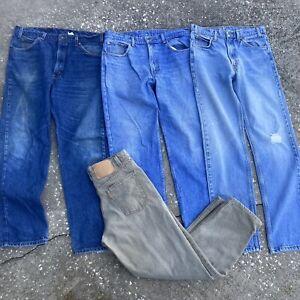 Lot of 4 Vintage Levi's Jeans Distressed Classic Orange Tab Straight Worn