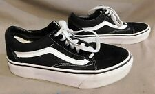 WOMENS VANS OLD SKOOL BLACK SUEDE THICK SOLE SKATEBOARD SHOE SHOE SIZE 7.5