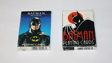 Two Pairs Of Batman Playing Cards Batman Animated Series and Batman Returns