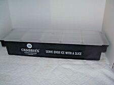 Crabbies beer 6 Fruit Tray, Condiment Dispenser Wooden Bar Caddy Holder NEW
