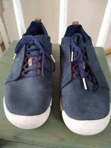 Clarks Trigenic Ladies Blue Suede Lace Up Shoes Size 5.5