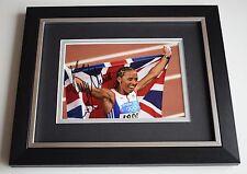 Dame Kelly Holmes SIGNED 10X8 FRAMED Photo Autograph Olympics AFTAL & COA