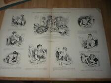 COMMENT ELLES MANGENT LES ASPERGES CURIOSA GRAVURE EROTIQUE 1894