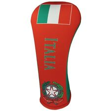 ITALIAN FLAG HYBRID Golf Club Head Cover Cover Easy ON & Off USA MADE