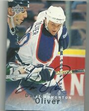 David Oliver Edmonton Oilers U.D. Be A Player Certified Autograph Hockey Card