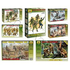 """Model Kits """"Soviet soldiers of Land Army, 1941-45 WWII"""" 1:35 Zvezda, part #1"""