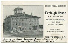 NY Sackets Harbor Eveleigh House Electricity Steam Heat Fishing Livery PMC