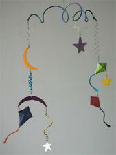 Q3 Art Go Fly a Kite Handmade Hanging Mobile Baby Nursery Decor with Stars Moon