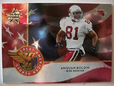 2004 LEAF ROOKIES AND STARS GREAT AMERICAN HEROES ANQUAN BOLDIN  CARDS   BOX 83