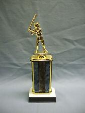 male baseball trophy award home plate base wide blue column