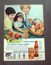 F647- Advertising Pubblicità - 1963 - GO' , ECCO COSA BERE .