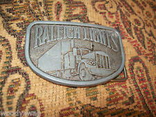 Raleigh Lights cigarette Trucker Belt Buckle Vintage Free USA ship