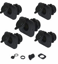 5 X Motorcycle/Marine Quality Waterproof 12V Accessory sockets + Plates-  20A