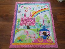 Handmade/ Homemade Baby Quilts-  Princess Castle