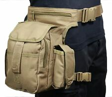 COYOTE tela tactical Girovita Multi Pack con Cinturino Gamba-Softair Caccia HIP BAG