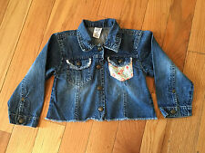 Baby Gap Blue Jean Jacket Snaps Up Frayed Hem and Pockets Sz 4 Years