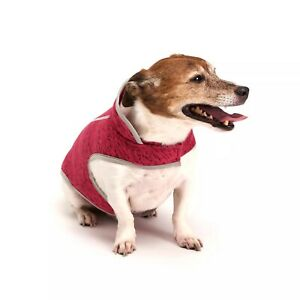 Royal Animals Fleece Dog and Cat Jacket - Heather Pink - LARGE - L