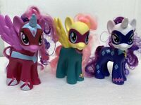 """Lot of 3 My Little Pony Power Ponies Fluttershy/ Rarity/ Twighlight Sparkle 5.5"""""""