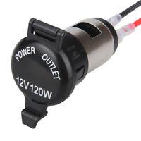 12V USB Cigarette Lighter Waterproof Car Power Port Outlet Socket For Motorcycle