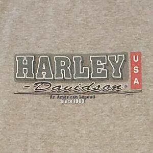 Vintage 90s Harley Davidson T-Shirt Large Sleeveless Chicago Motorcycles FLAWED