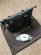 Authentic Gucci Signature Microguccissma Black Crossbody Clutch WOC Bag