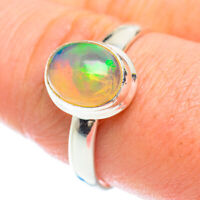 Ethiopian Opal 925 Sterling Silver Ring Size 9.75 Ana Co Jewelry R53188