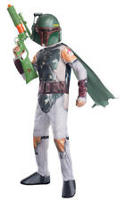 Kids Boys Childs Boba Fett Fancy Dress Costume Outfit Star Wars Childrens L