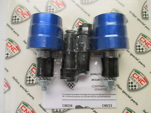 CNC Racing UNIVERSAL Aluminum Handlebar Caps (Bar Ends), Conical Style - Blue