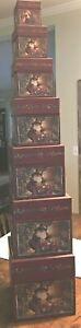 Bob's Boxes (Magical Santas) 7 Piece Christmas Gift Nesting Boxes