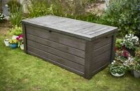 Extra Large Outdoor Storage Box Heavy Duty Swimming Pool Deck Bench Chest W/ Lid