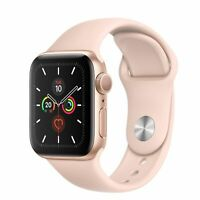 Apple Watch Series 4 40 mm Gold Aluminum Case with Pink Sand Sport Band (GPS).