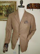 ADER 100% CASHMERE 38UK 48EU Avena Sport Cappotto HAND Tailored ITALIANO canali