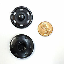 New Sew-On Snaps  Fasteners  Size:30mm 144 sets package, Color: Black