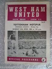 1966 League Division One- WEST HAM UNITED v TOTTENHAM HOTSPUR, 25 April