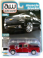 AUTO WORLD 1/64 2019 BLACK CHEVY SILVERADO HIGHT COUNTRY PICK UP AWSP037B chase