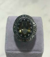 Turkish Handmade Jewelry 925 Sterling Silver Quartz Mens Ring 9 10 11