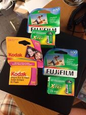 3 Rolls Of Unused Expired Film 2 Fuji 400 1 Kodak 200