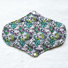 Reusable Washable CHARCOAL Bamboo Cloth Menstrual Mama Pad Paisley Regular M