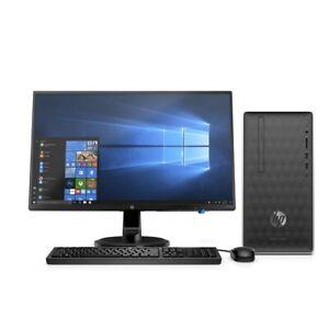 "HP 590 Ryzen 3 Quad Core 8GB 1TB Radeon WiFi Tower PC w/ 24"" LED Monitor Bundle"
