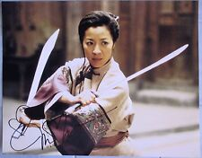 MICHELLE YEOH SIGNED 11x14 PHOTO DC/COA (CROUCHING TIGER HIDDEN DRAGON) PROOF