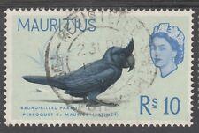 MAURITIUS 1965 QEII BIRD 10R TOP VALUE USED