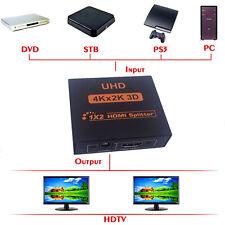 UHD 3D 4K*2K Full HD HDMI Splitter 1X4/1X2 4/2 Port Hub Repeater Amplifier 1080p
