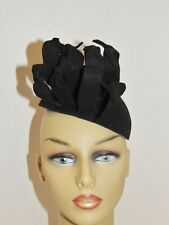 1940's Ww2 Era Maurice Black Wool Felt Tilt Hat
