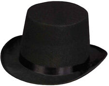 CHILDRENS  BLACK TOP HAT FELT VICTORIAN BOYS GIRLS FANCY DRESS COSTUME ACCESSORY
