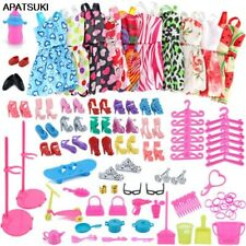 """83 items/set Doll Accessories = 18 Shoes 10 Fashion Dress For 11.5"""" Doll Outfits"""